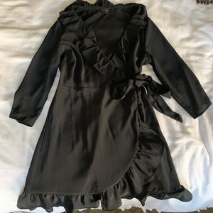 Topshop black wrap dress!
